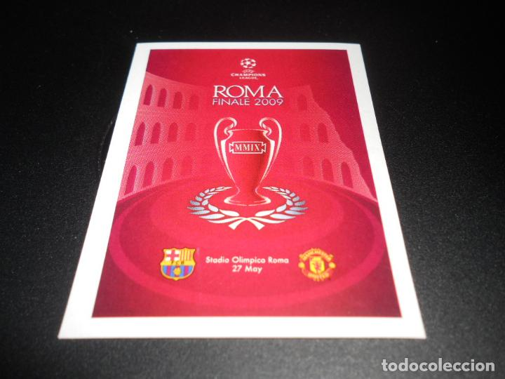 554 LOGO 2009 CARTEL FINAL MANCHESTER UNITED BARCELONA CROMOS UEFA  CHAMPIONS LEAGUE 2010 2011 10 11