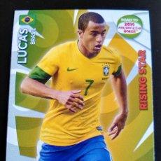 Cromos de Fútbol: LUCAS RISING STAR BRASIL ADRENALYN XL ROAD TO BRASIL 2014 WORLD CUP, CROMOS FUTBOL. Lote 126065839
