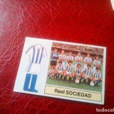 Cromos de Fútbol: ALINEACION REAL SOCIEDAD ED ESTE 82 83 CROMO FUTBOL LIGA 1982 1983 - SIN PEGAR - 298. Lote 126100119