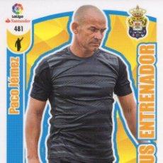 Cromos de Fútbol: 481 PACO JEMEZ PLUS ENTRENADOR ADRENALYN 17/18. Lote 126921371