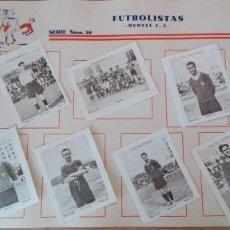 Cromos de Fútbol: EXCELENTE SERIE COMPLETA CROMOS FUTBOL 1932 CUPON PENINSULAR MURCIA PERFECTA CONSERVACION REAL. Lote 127218067