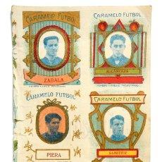 Cromos de Fútbol: ÚNICA LÁMINA CROMOS DE CARAMELOS CARAMELO FÚTBOL JUGADORES AÑOS 20 REAL MADRID BARCELONA.... Lote 127641251
