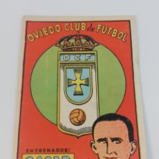 Cromos de Fútbol: ANTIGUO CROMO OSCAR ENTRENADOR REAL OVIEDO CLUB FUTBOL ESCUDO, CULTURA EDITORIAL BRUGUERA 12X8'5. Lote 128360355