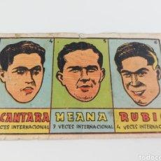 Cromos de Fútbol: ANTIGUO CROMO ALCANTARA MEANA RUBIO CROMOS CULTURA EDITORIAL BRUGUERA 12X8'5 1940'S. Lote 128361355