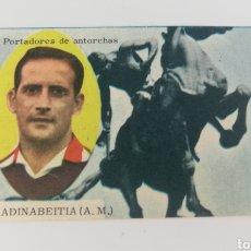 Cromos de Fútbol: ANTIGUO CROMO MADINABEITIA ATLETICO MADRID, EDITORIAL DISGRA 63-64, FUTBOL.. Lote 128368219