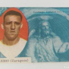 Cromos de Fútbol: CANARIO REAL ZARAGOZA EDITORIAL DISGRA 63-64 ANTIGUO CROMO FUTBOL.. Lote 128368806
