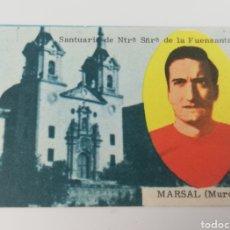 Cromos de Fútbol: MARSAL REAL MURCIA EDITORIAL DISGRA 63-64 ANTIGUO CROMO FUTBOL. Lote 128373182