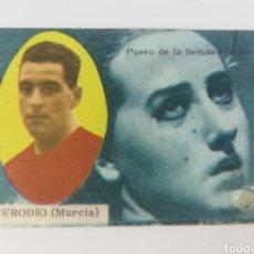 Cromos de Fútbol: MERODIO REAL MURCIA EDITORIAL DISGRA 63-64 EDITORIAL DISGRA ANTIGUO CROMO FUTBOL. Lote 128373671