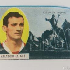 Cromos de Fútbol: AMADOR ATLETICO DE MADRID FUENTE DE NEPTUNO, EDITORIAL DISGRA 63-64 ANTIGUO CROMO FUTBOL.. Lote 128373951
