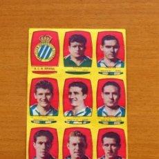 Cromos de Fútbol: R.C.D. ESPAÑOL, ESPANYOL-EQUIPO COMPLETO-CHOCOLATES FOLGADO 1954-1955, 54-55 -TORRENTE-NUNCA PEGADOS. Lote 128468811
