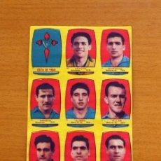 Cromos de Fútbol: CELTA DE VIGO - EQUIPO COMPLETO - CHOCOLATES FOLGADO 1954-1955, 54-55 - TORRENTE - NUNCA PEGADOS. Lote 128469187