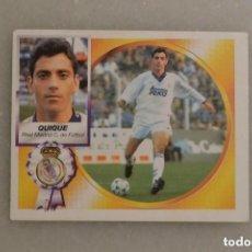 Cromos de Fútbol: CROMO FUTBOL ESTE ALBUM CROMOS 1994/95. NUNCA PEGADO. FICHAJE 8 QUIQUE REAL MADRID. Lote 128469231