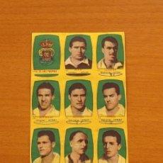 Cromos de Fútbol: U.D. LAS PALMAS - EQUIPO COMPLETO - CHOCOLATES FOLGADO 1954-1955, 54-55 -TORRENTE -NUNCA PEGADOS. Lote 128469499