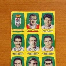 Cromos de Fútbol: VALLADOLID - EQUIPO COMPLETO - CHOCOLATES FOLGADO 1954-1955, 54-55 -TORRENTE -NUNCA PEGADOS. Lote 128471715