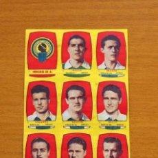 Cromos de Fútbol: HÉRCULES - EQUIPO COMPLETO - CHOCOLATES FOLGADO 1954-1955, 54-55 - TORRENTE - NUNCA PEGADOS. Lote 128472047