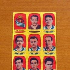 Cromos de Fútbol: REAL SOCIEDAD - EQUIPO COMPLETO - CHOCOLATES FOLGADO 1954-1955, 54-55 -TORRENTE -NUNCA PEGADOS. Lote 128472335