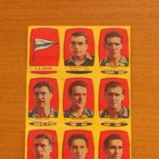 Cromos de Fútbol: ALAVÉS - EQUIPO COMPLETO - CHOCOLATES FOLGADO 1954-1955, 54-55 -TORRENTE -NUNCA PEGADOS. Lote 128472659