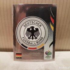 Cromos de Fútbol: CROMO FUTBOL MUNDIAL 2006 GERMANY PANINI SIN PEGAR NUMERO 18 ESCUDO LOGO ALEMANIA VER FOTO. Lote 128483211