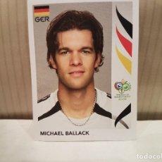 Cromos de Fútbol: CROMO FUTBOL MUNDIAL 2006 GERMANY PANINI SIN PEGAR NUMERO 25 MICHAEL BALLACK ALEMANIA VER FOTO. Lote 128483527