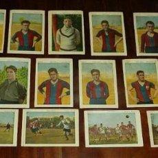 Cromos de Fútbol: COLECCION CASI COMPLETA DE 20 CROMOS DEL F.C.B. BARCELONA, SPORTS, FOOT-BALL, SERIE A, CHOCOLATE JU. Lote 128584555
