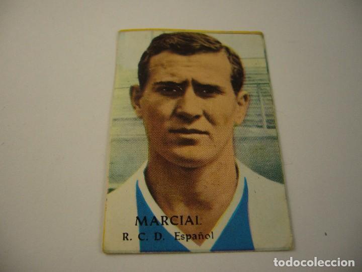 LIGA 1968 69 . MARCIAL RCD ESPAÑOL . DISGRA, ED. FHER, SIN PEGAR. (Coleccionismo Deportivo - Álbumes y Cromos de Deportes - Cromos de Fútbol)