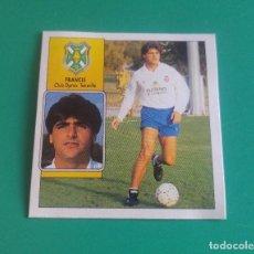 Cromos de Fútbol: FRANCIS (BAJA) - TENERIFE - CROMO EDICIONES ESTE 1992-93 - RECUPERADO DEL ÁLBUM - 92/93. Lote 128878367