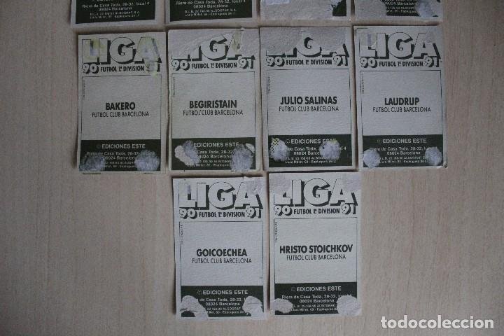 Cromos de Fútbol: ESTE 90 91 FC BARCELONA LOTE DE 14 CROMOS - Foto 7 - 129234083