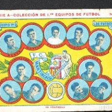Cromos de Fútbol: CROMO FUTBOL F.C. MARTINENCH- SERIE A - COLECCION DE 1EROS EQUIPOS DE FUTBOL Nº5. Lote 130253146