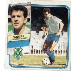 Cromos de Fútbol: LIGA 89/90. FICHAJES Nº 26. QUIQUE II. CLUB DPTVO. TENERIFE. EDICIONES ESTE. DESPEGADO.. Lote 130474210