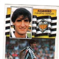 Cromos de Fútbol: LIGA 90/91. ALEJANDRO. CLUB DEPORTIVO CASTELLON. EDICIONES ESTE. NUEVO.. Lote 130475246