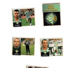 Cromos de Fútbol: LIGA 98/99. LOTE DE 5 CROMOS. REAL BETIS BALOMPIE. COLECCIONES ESTE. NUEVOS.. Lote 130486334