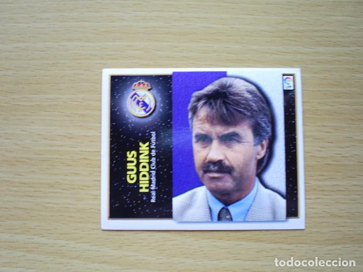 ENTRENADOR GUUS HIDDINK REAL MADRID ESTE 1998 1999 LIGA 98 99 CROMO FUTBOL SIN PEGAR NUNCA PEGADO