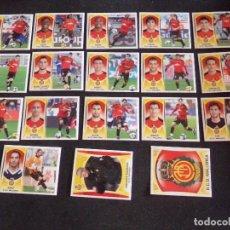 Cromos de Fútbol: LOTE DE 18 CROMOS DEL MALLORCA, LIGA ESTE 09-10 (2009-2010). Lote 130722299