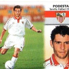 Cromos de Fútbol: LIGA 1999/2000. ULTIMOS FICHAJES. Nº 34. PODESTA. SEVILLA FUTBOL CLUB. COLECCIONES ESTE. SIN PEGAR.. Lote 130972472