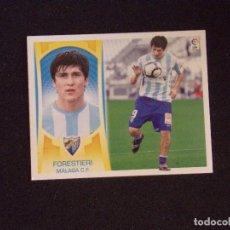 Cromos de Fútbol: COLOCA 11B FORESTIERI, MALAGA, LIGA ESTE 09-10 (2009-2010). Lote 131106856
