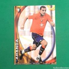Cartes à collectionner de Football: (C-PK.01) MUNDICROMO LIGA 2010-2011 - (OSASUNA) N°318 ARANDA. Lote 131350097