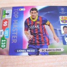 Cromos de Fútbol - Lionel Messi (Barcelona). Cromo Panini Adrenalyn UEFA Champions League 2013-2014 (13-14). TOP Master - 131384194