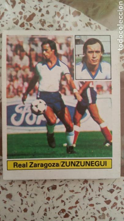 ESTE 81 82 ZUNZUNEGUI (ZAR) (UF 3) (VERSIÓN CON PÚBLICO) DESPEGADO (Coleccionismo Deportivo - Álbumes y Cromos de Deportes - Cromos de Fútbol)