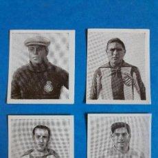 Cromos de Fútbol: LOTE 4 CROMOS DEL RCD ESPANYOL ESPAÑOL PAPEL DE FUMAR FOOT-BALL ZAMORA. Lote 131611662