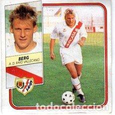 Cromos de Fútbol: LIGA 89/90. ULTIMOS FICHAJES. Nº 31. BERG. A. D. RAYO VALLECANO. EDICIONES ESTE. DESPEGADO. Lote 131770590