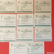 Cromos de Fútbol: ESTE LIGA 94-95 TRASERA PLATEADA 11 CROMOS NUNCA PEGADOS. FUTBOL 1994-1995. Lote 131889731