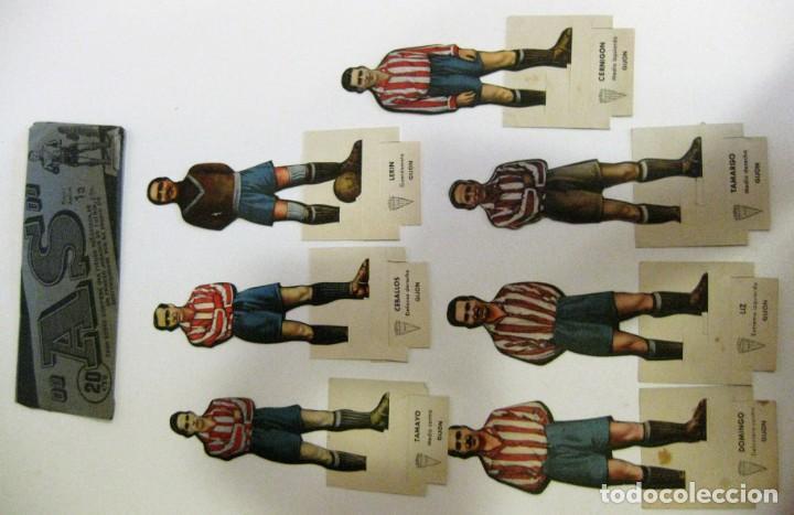 Cromos de Fútbol: 7 CROMOS TROQUELADOS JUGADOR FUTBOL gijon AS BRUGUERA AÑOS 40 CROMO ceballos - Foto 2 - 131982394
