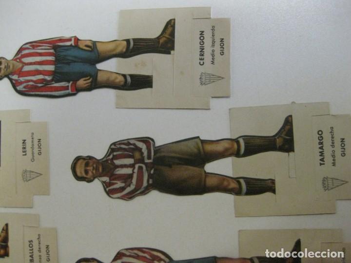 Cromos de Fútbol: 7 CROMOS TROQUELADOS JUGADOR FUTBOL gijon AS BRUGUERA AÑOS 40 CROMO ceballos - Foto 3 - 131982394