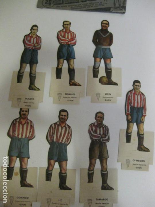 7 CROMOS TROQUELADOS JUGADOR FUTBOL GIJON AS BRUGUERA AÑOS 40 CROMO CEBALLOS (Coleccionismo Deportivo - Álbumes y Cromos de Deportes - Cromos de Fútbol)