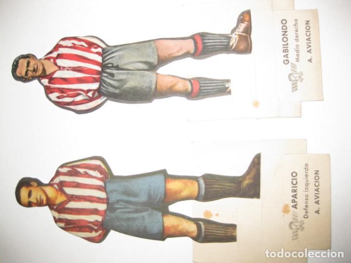 Cromos de Fútbol: 6 cromos troquelados jugador futbol AS bruguera años 40 cromo atletico aviacion madrid adrover gabil - Foto 2 - 131991570