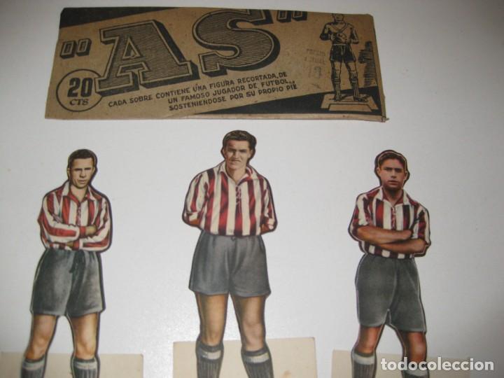 Cromos de Fútbol: 6 cromos troquelados jugador futbol AS bruguera años 40 cromo atletico aviacion madrid adrover gabil - Foto 3 - 131991570