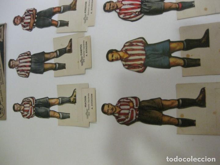 Cromos de Fútbol: 6 cromos troquelados jugador futbol AS bruguera años 40 cromo atletico aviacion madrid adrover gabil - Foto 4 - 131991570