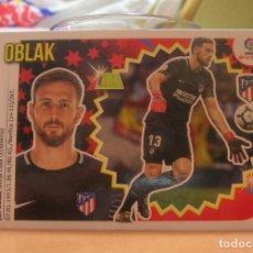 Cromos de Fútbol: EDICIONES ESTE 2018-2019 18 19 Nº 1 OBLAK (ATLETICO MADRID) SIN PEGAR. Lote 135586779