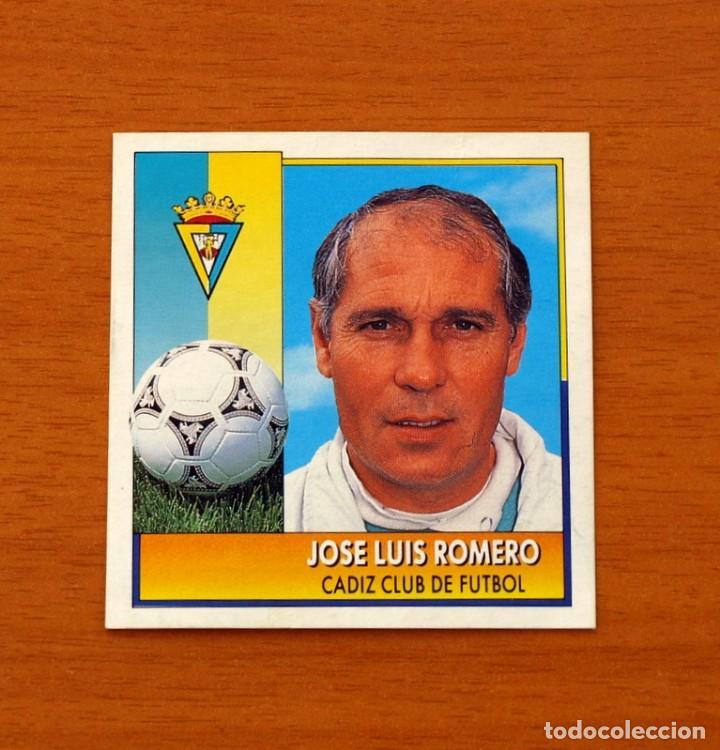 CÁDIZ - JOSÉ LUIS ROMERO, ENTRENADOR - COLOCA - EDICIONES ESTE - LIGA 1992-1993, 92-93 (Coleccionismo Deportivo - Álbumes y Cromos de Deportes - Cromos de Fútbol)