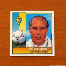 Cromos de Fútbol: CÁDIZ - JOSÉ LUIS ROMERO, ENTRENADOR - COLOCA - EDICIONES ESTE - LIGA 1992-1993, 92-93. Lote 132452166